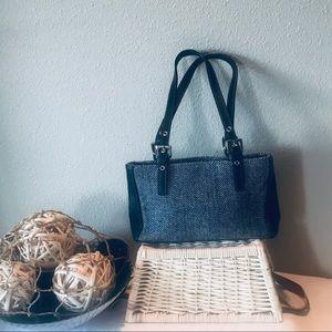Hillard & Hansen houndstooth wool blend mini bag